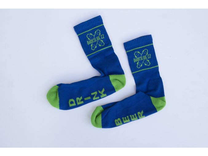 Ponožky Darkslide Mid Blue/Green