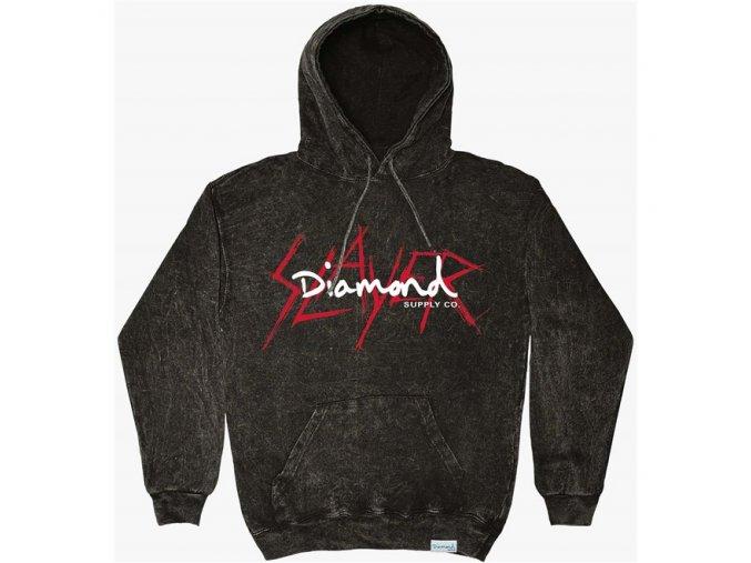 Mikina Diamond x Slayer Hoodie Black