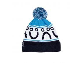 Kulich Polar Happy Sad Pom Pom Beanie (Black/Blue)