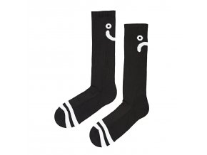 Ponožky Polar Upside Down Happy Sad Socks Black