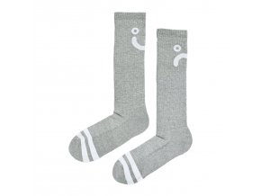 Ponožky Polar Upside Down Happy Sad Socks Sport Grey