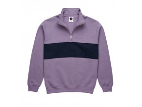 Mikina Polar Block Zip Sweatshirt Lilac/Navy