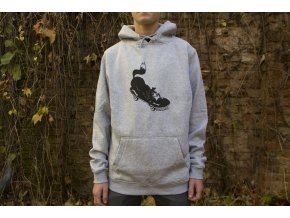 Mikina Darkslide Skate Dog Grey Heather Hoodie