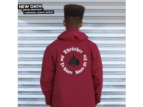 Bunda Thrasher New Oath Coach Jacket (Cardinal)