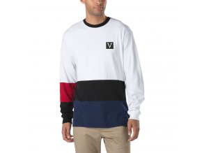 Triko Vans x Chima Colorblock Long Sleeve White/Black/Red/Blue