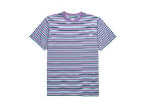 Triko Polar Striped Pocket Tee (Violet/Mint)