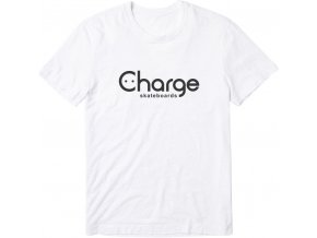 Triko Charge skateboards Logo White