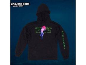 Mikina Thrasher Atlantic Drift Hood Black