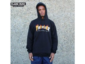 Mikina Thrasher Flame Mag Hood Black