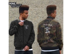 Bunda Thrasher Gonz Reversible Coach Jacket Black/Camo