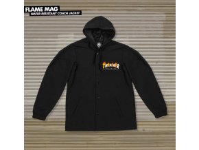 Bunda Thrasher Flame Mag Coach Jacket Black