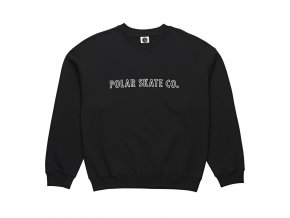 Mikina Polar Outline Crewneck Black