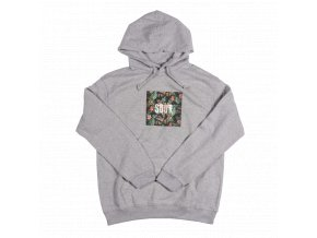Mikina SOUR Floral Hood Grey