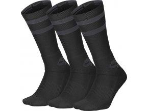Ponožky Nike SB 3PPK Crew Socks Black/Anthracite