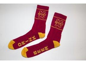 Ponožky Darkslide Mid Burgundy/Yellow