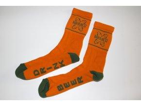 Ponožky Darkslide Mid Orange/Green