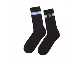 Ponožky Polar Stroke Logo Socks Black/Dusty Blue/White