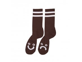 Ponožky Polar Happy Sad Socks Brown