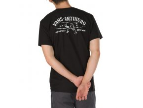 Triko Vans x Antihero On The Wire Tee Black
