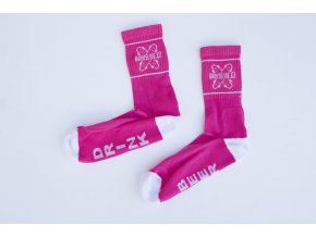 Ponožky Darkslide Mid Pink/White