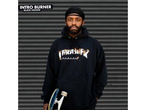 Mikina Thrasher Intro Burner Hood Black