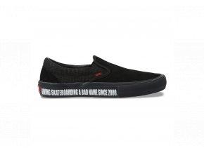 Boty Vans Slip-On Pro (Baker) Black/Black/Red