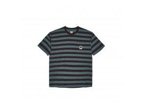 Triko Polar Stripe Pocket Tee Brown/Blue
