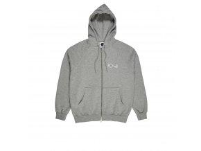 Mikina Polar Stroke Logo Zip Hood Heather Grey