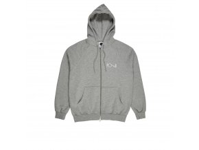 Mikina Polar Stroke Logo Zip Hood Heather Grey