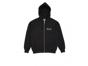 Mikina Polar Stroke Logo Zip Hood Black