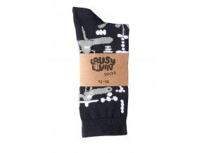 Ponožky Lousy Livin Socks Dog Balance Navy