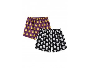 Trenýrky Lousy Livin Boxershorts Lousy Toast (Purple/Black) 2 Pack