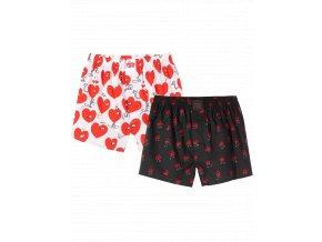 Trenýrky Lousy Livin Boxershorts Rose & Valentines (Black/White) 2 Pack