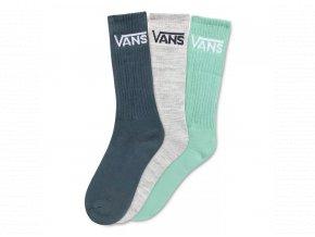 Ponožky Vans Classic Crew Dusty Jade Green Assorted