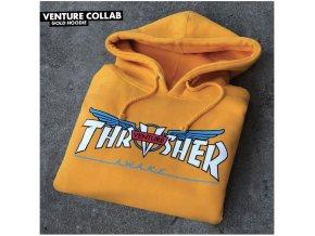 Mikina Thrasher x Venture Collab Hood Gold