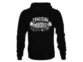 Mikina Confusion DIY Celebration Zip Hoodie Black