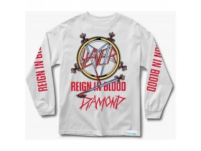 Triko Diamond x Slayer Reign In Blood Longsleeve White