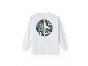 Triko Polar Memory Palace Fill Logo Longsleeve White