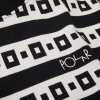 Triko Polar Square Stripe Surf Tee Black