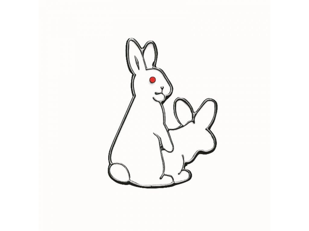 Pin / Brož odznáček - králíci sprosťáci