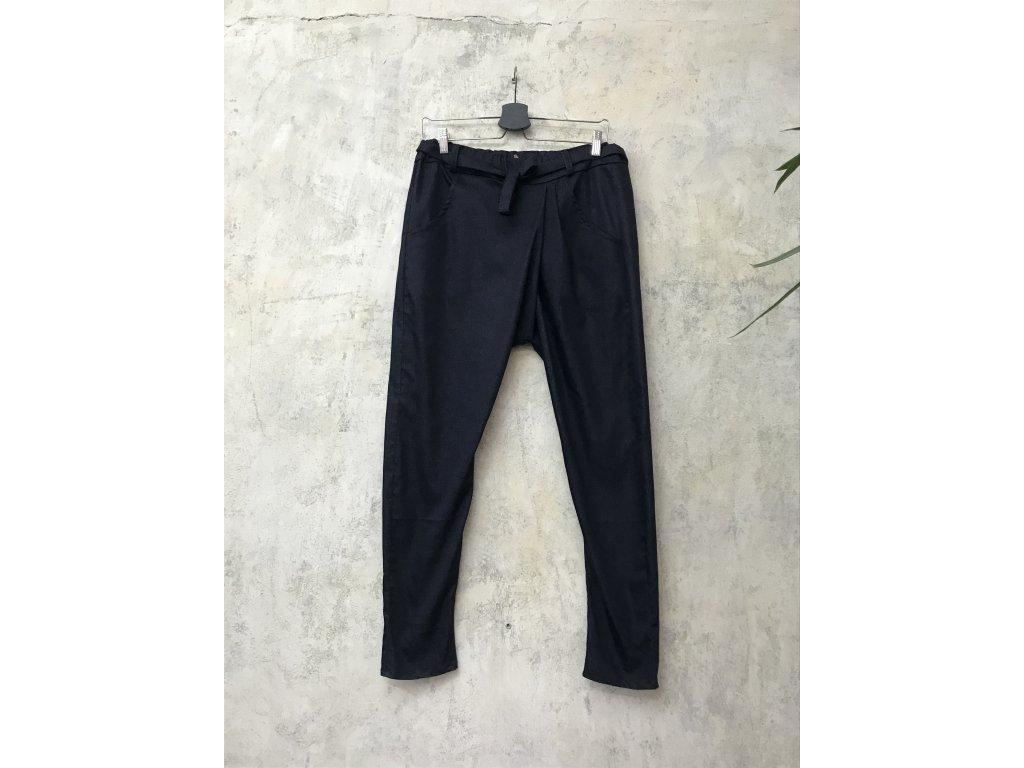 """KRAPA kalhoty se sníženým sedem tmavě  modré """"jeansové"""""""