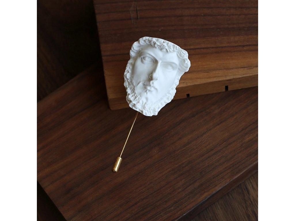 Brož antický hrdina na delším špendlíku