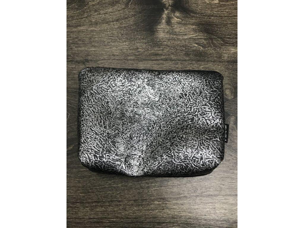 make design make-up bag - taštička na drobnosti nebo kosmetiku stříbrná