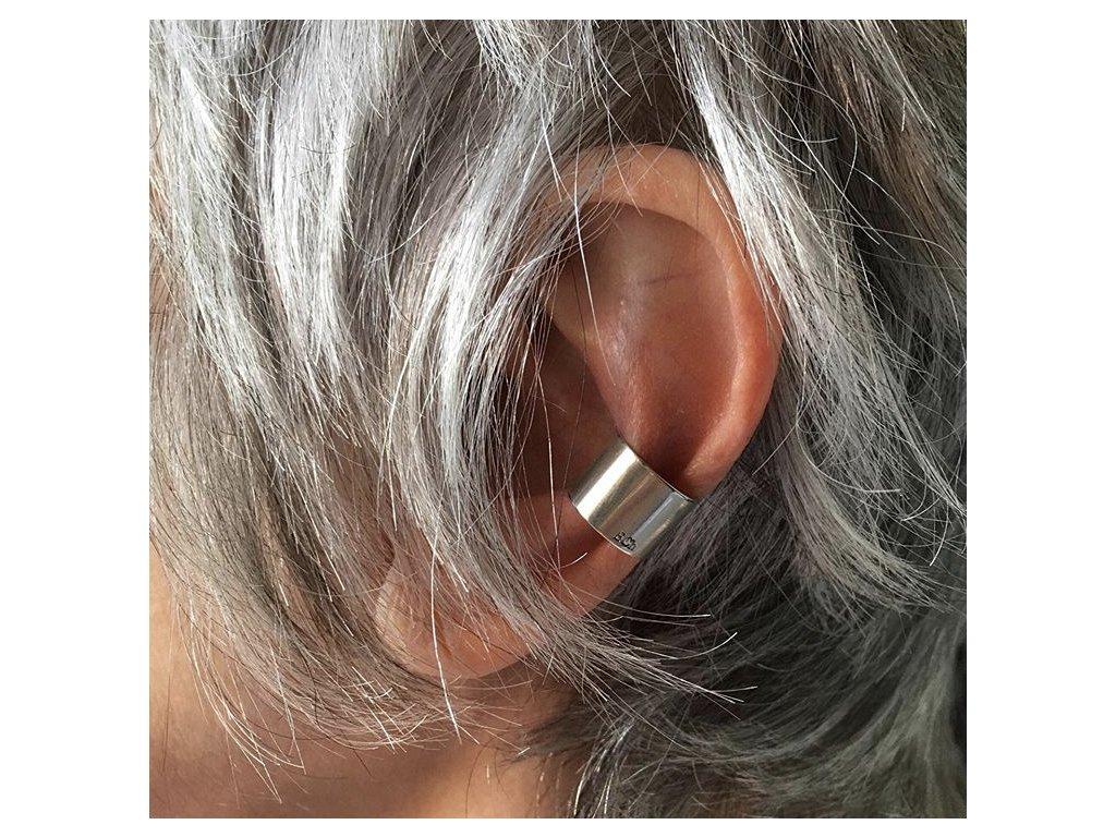 ELA CHROUST EARCUFFS / ear cuff náušnice - stříbro lesk