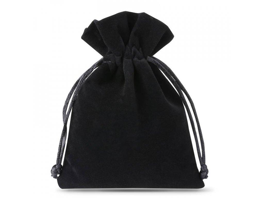 velvet bags 8x10 cm 10pcs black