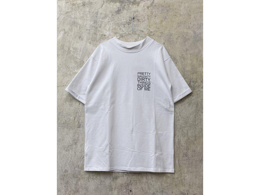 ARTGI unisex bílé tričko PRETTY