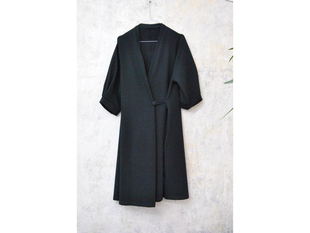 BIOGA černé šaty GEORGINA úplet