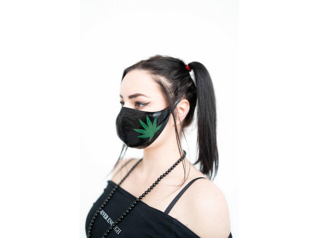 KirstenVaams latexová rouška / maska 420 Black - černá