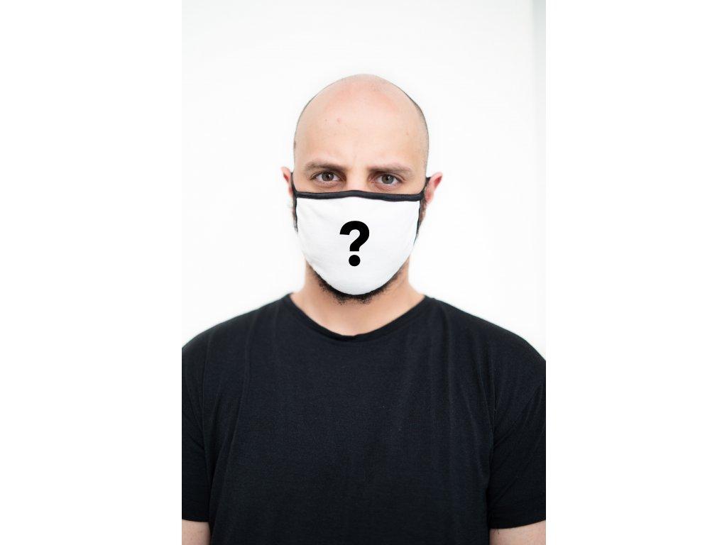 NTRXZ maska na obličej / rouška bavlněná bílá - s vaším potiskem na přání