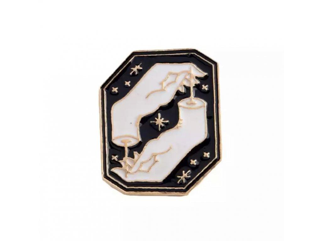 Pin / Brož odznáček černo-zlatý Magic Hands